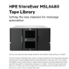 HPE StoreEver MSL6480 Tape Library