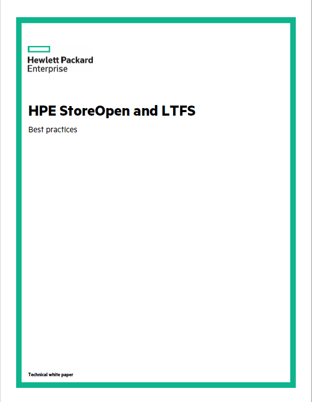 HPE StoreOpen and LTFS
