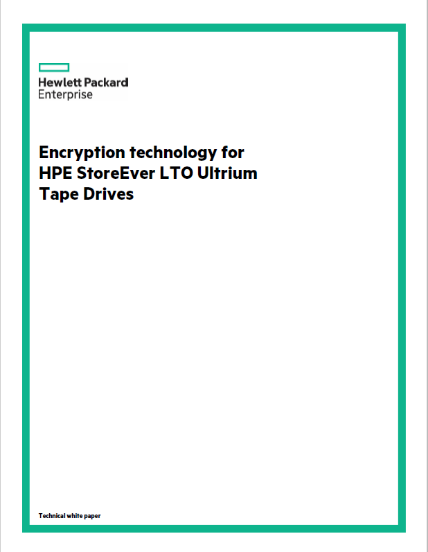 Encryption technology for HPE StoreEver LTO Ultrium Tape Drives