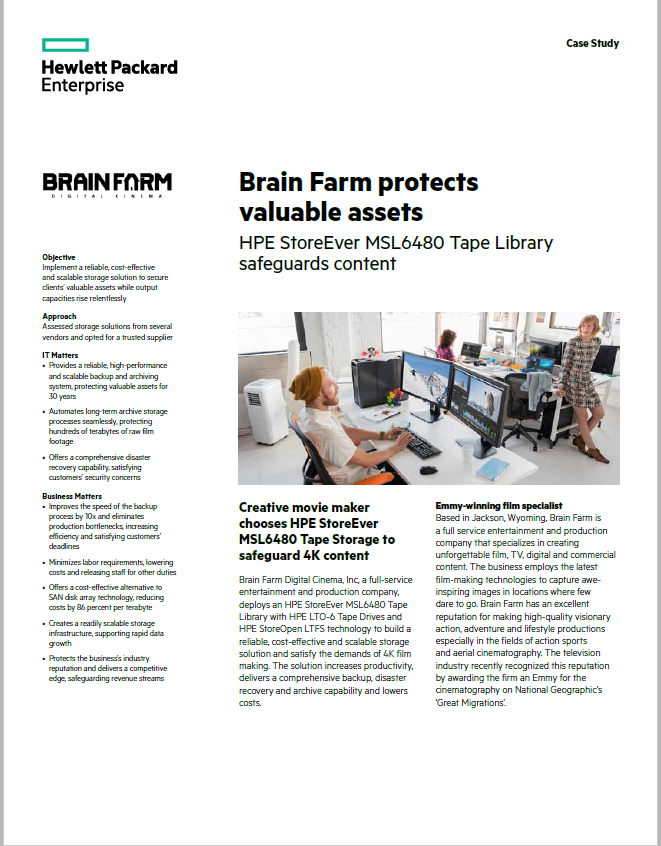 Brain Farm protects valuable assets