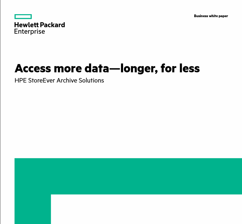 HPE StoreEver Archive Manager Business White Paper