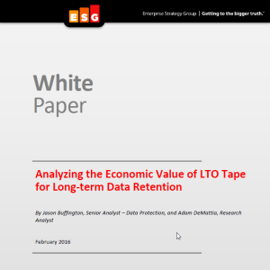 Analyzing the Economic Value of LTO Tape for Long-term Data Retention